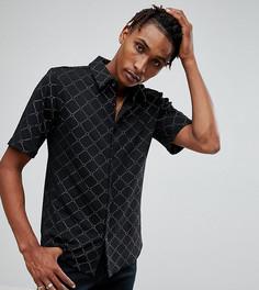 Трикотажная рубашка с короткими рукавами Reclaimed Vintage Inspired - Черный