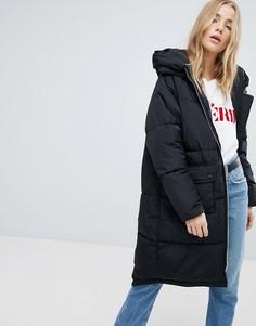 Свободное дутое пальто Only - Черный