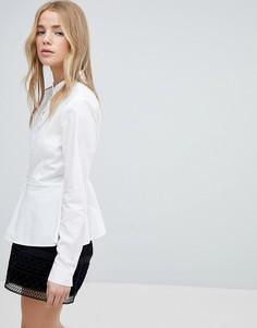 Рубашка с баской Only - Белый