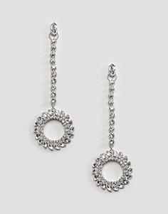 Серьги-кольца с камнями River Island - Серебряный
