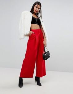 Фланелевые брюки с широкими штанинами River Island - Красный