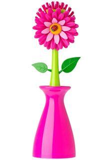 Щетка для мытья посуды на подставке FLOWER POWER VIGAR