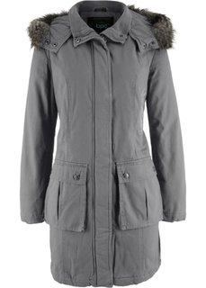 Пальто с вышивкой (дымчато-серый) Bonprix