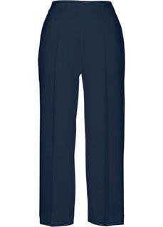 Широкие брюки длины 7/8 (темно-синий) Bonprix