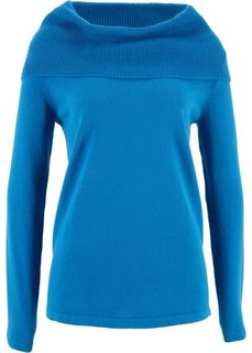 Пуловер с длинными рукавами (синий) Bonprix