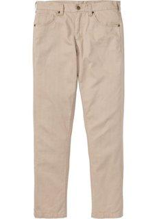 Прямые классические брюки, cредний рост (N) (бежевый) Bonprix