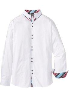 Рубашка Slim Fit с длинным рукавом (белый) Bonprix