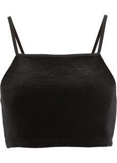 Бархатное бюстье (черный) Bonprix