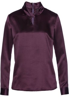 Сатиновая блузка (цвет бузины) Bonprix