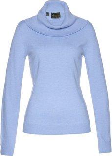 Пуловер с широким высоким воротом (синий жемчуг) Bonprix