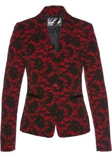 Пиджак с кружевным узором (темно-красный/черный с рисунком) Bonprix