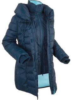 Стеганая куртка, имитация 2 в 1 (темно-синий) Bonprix