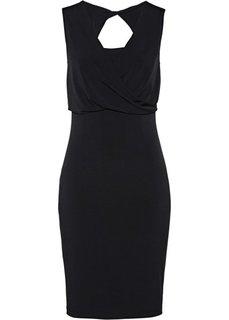 Платье с запахом (черный) Bonprix