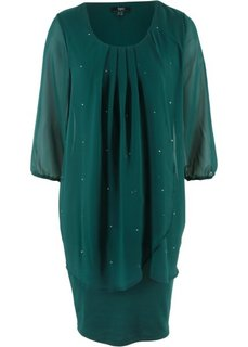 Коктейльное платье два в одном (зеленый) Bonprix