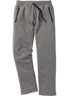 Трикотажные брюки  Regular Fit (серый меланж) Bonprix