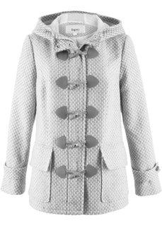 Пальто из искусственной шерсти (кремовый/светло-серый меланж с узором) Bonprix