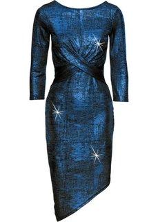 Платье с металлическим отливом (синий) Bonprix