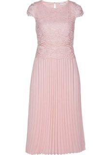 Платье с кружевной отделкой (нежно-розовый) Bonprix