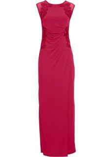 Вечернее платье с кружевной аппликацией (маджента) Bonprix