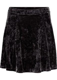 Трикотажная юбка с имитацией бархата (черный) Bonprix