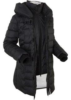 Стеганая куртка, имитация 2 в 1 (черный) Bonprix