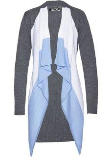 Вязаный кардиган (серый/белый/цвет белой шерсти) Bonprix