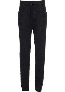 Вязаные брюки (черный) Bonprix