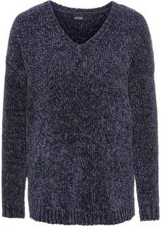 Пуловер из синельной пряжи (темно-синий) Bonprix