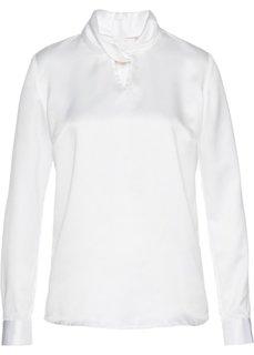 Сатиновая блузка (кремовый) Bonprix