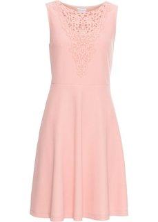 Платье с кружевной отделкой лифа (нежно-коралловый) Bonprix