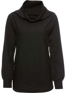 Пуловер с рукавами летучая мышь (черный) Bonprix