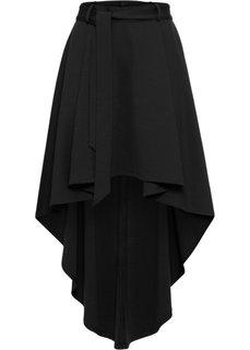 Юбка с асимметричным подолом (черный) Bonprix