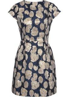 Платье с золотистым отливом (темно-синий/золотистый) Bonprix
