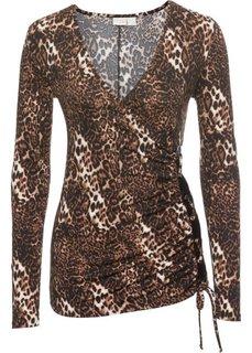 Топ с леопардовым узором на шнуровке (леопардовый/коричневый) Bonprix