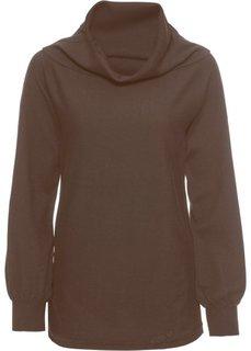 Пуловер с рукавами летучая мышь (коричневый) Bonprix