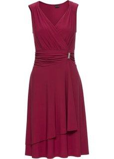 Платье с аппликацией (темно-красный) Bonprix