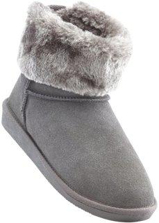 Замшевые ботинки (серый) Bonprix
