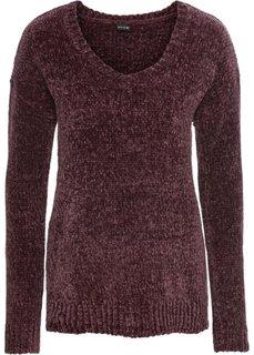 Пуловер из синельной пряжи (баклажановый) Bonprix