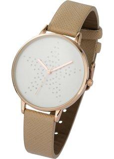 Часы с изображением звезды (песочный/розово-золотистый) Bonprix
