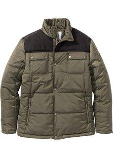 Зимняя куртка Regular Fit на ватиновой подкладке (темно-оливковый) Bonprix