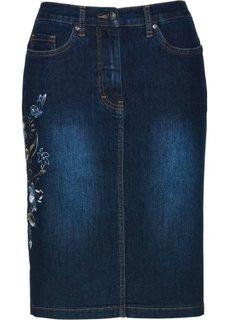 Юбка с вышивкой (темно-синий «потертый») Bonprix