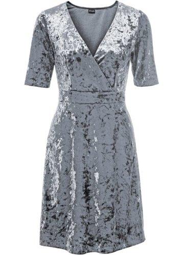 Бархатное платье (серый)