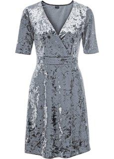 Бархатное платье (серый) Bonprix