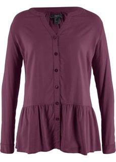 Блузка с баской (цвет бузины) Bonprix