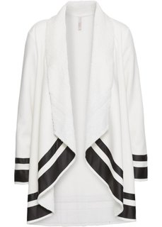 Короткое пальто (белый/черный) Bonprix