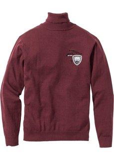 Пуловер Regular Fit с высоким воротом (темно-бордовый) Bonprix