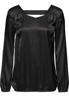 Блузка (черный) Bonprix