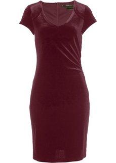 Бархатное платье (кленово-красный) Bonprix