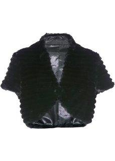 Болеро из искусственного меха (черный) Bonprix