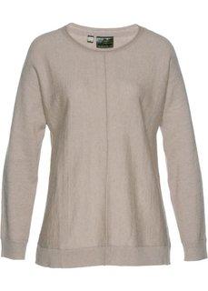 Пуловер (меланжевый натуральный камень) Bonprix